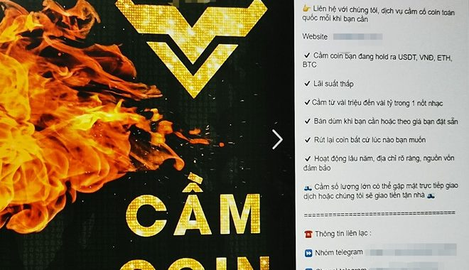 Dịch vụ cầm đồ bằng Bitcoin nở rộ ở Việt Nam