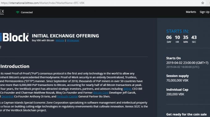 VeriBlock là gì ? Bittrex tái khởi động IEO ngày 02/4