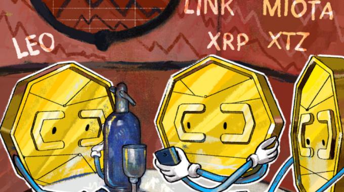 Phân tích giá: Top 5 coin hoạt động tốt nhất tuần qua: LEO, LINK, MIOTA, XRP, XTZ