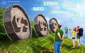 Top 5 coin tuần qua: NEO, LINK, ADA, BNB, LEO